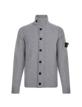 Button Knitted Cardigan by Stone Island
