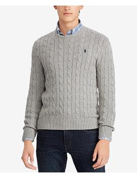 Men's Cable Knit Cotton Sweater by Polo Ralph Lauren
