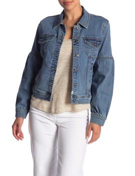 Blouson Sleeve Denim Jacket by Melrose And Market