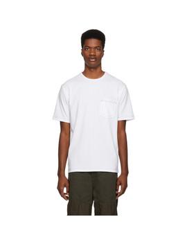 White Contrast Stitch T Shirt by Comme Des GarÇons Homme
