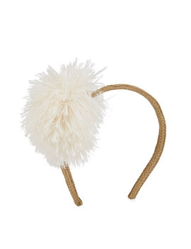 Girls' Glittered Headband W/ Faux Fur Pompom by Pili Carrera