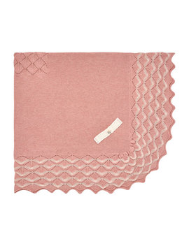 Baby Blanket W/ Raised Knit Border by Pili Carrera
