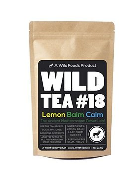 Lemon Balm Loose Leaf Herbal Tea, Organic Mediterranean Lemon Balm Leaves, Wild Tea #18 Lemon Balm Calm By Wild Foods (4 Ounce) by Wild Foods