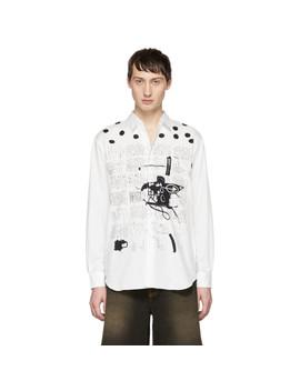 White Basquiat Edition Poplin Print Shirt by Comme Des GarÇons Shirt