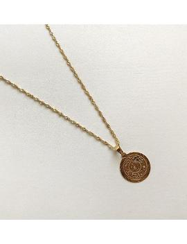 Handmade Gold Coin Necklace Pendant by Etsy