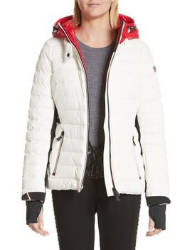 Bruche French Flag Down Hooded Puffer Coat by Moncler