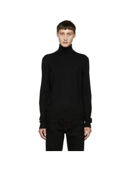 Black Crown Turtleneck by Dolce & Gabbana