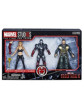 Marvel Studios: The First Ten Years Iron Man 3 Pepper Potts, Iron Man Mark Xxii, And The Mandarin (Amazon Exclusive) by Marvel