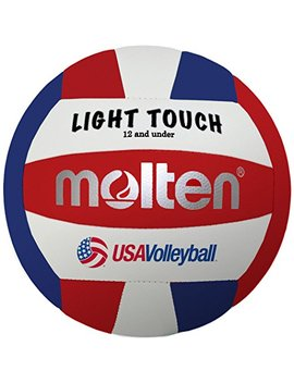 Molten Ms240 3 Light Touch Volleyball, Red/White/Blue by Molten