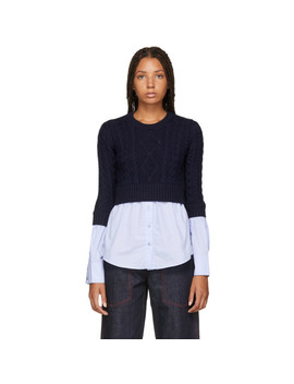 Navy & Blue Mix Sweater by Kenzo