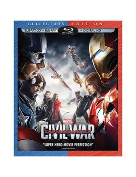 Captain America: Civil War (Collector's Edition) (Blu Ray 3 D + Blu Ray + Digital Hd) by Marvel