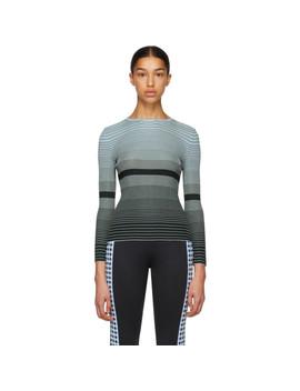 Blue & Navy Striped Breton Crewneck Sweater by Wales Bonner