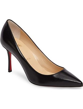 Christian Louboutin Decoltish Pointy Toe Pump Black Leather by A Little Bit Of Fashion