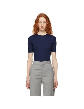 Blue Cashmere Sweater by Victoria Beckham