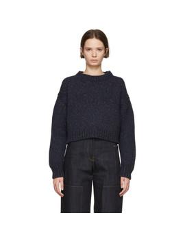 Navy Three Gauge Sweater by Studio Nicholson