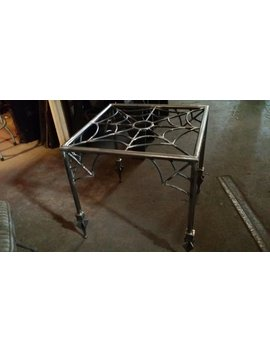 Spider Web,End Table,Halloween, Coffee Table, Goth, Gothic Furniture,Metal Table Base, Metal End Table ,The Munsters,The Adams Family,Tattoo by Etsy
