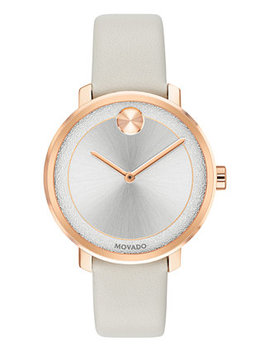 Women's Swiss Bold Gray Leather Strap Watch 34mm by Movado