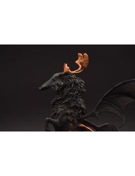 Black Winged Pig Original Creature Figurine Sculpture Ooak Art Doll Toy Animal by Etsy
