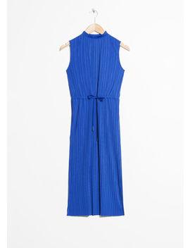 Plissé Pleated Midi Dress by & Other Stories