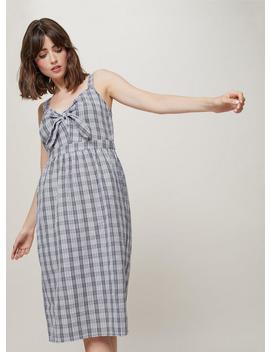 Gingham Knot Front Midi Dress by Miss Selfridge