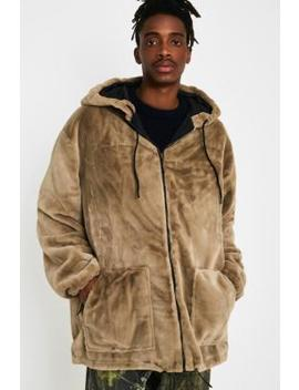 The New County Sand Faux Fur Hoodie by The New County