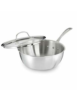 Calphalon Tri Ply Stainless Steel Cookware, Chef's Pan, 3 Quart by Calphalon