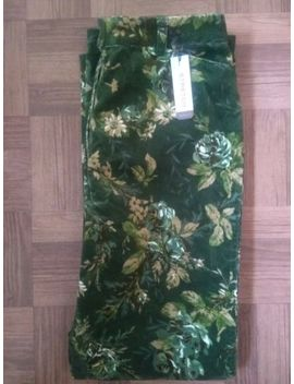 Van Heusen 70's Boho Corduroy Style Floral Green Stretch Jeans Size 10 Uk by Ebay Seller