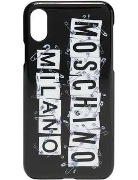 Black And White Safety Pin Iphone X Case by Moschino