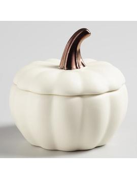 Matte White Ceramic Pumpkin Baker Set Of 4 by World Market