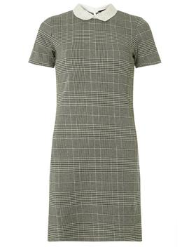Grey Pearl Collar Shift Dress by Dorothy Perkins