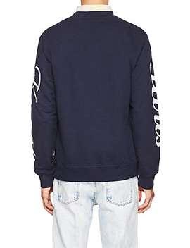 Tiger Embroidered Cotton French Terry Sweatshirt by Kenzo