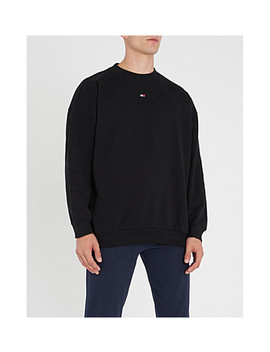 Logo Embroidered Cotton Jersey Sweatshirt by Tommy Hilfiger