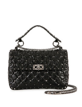 Rockstud Medium Quilted Leather Shoulder Bag by Valentino Garavani