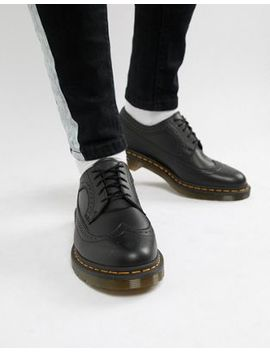 Dr Martens 3989 Brogue Shoes In Black by Dr Martens