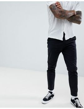 New Look Tapered Chinos In Black by New Look