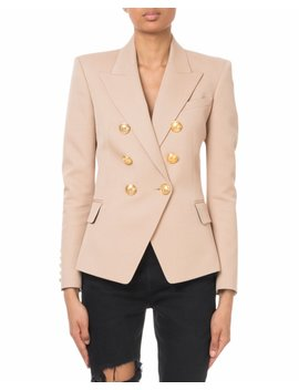 Double Breasted Silver Button Classic Blazer by Balmain