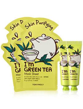 4 Pc. I'm Green Tea Sheet Mask & Hand Cream Set by Tonymoly