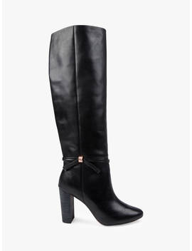 Ted Baker Linaey Knee High Boots, Black Leather by Ted Baker