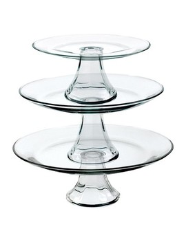 Anchor Hocking Tiered Pedestal Serving Plates   Set Of 3 by Shop This Collection