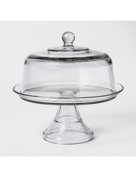 Classic Glass Cake Stand With Dome   Threshold™ by Threshold™