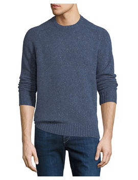 Men's Crown Vintage Saddle Crewneck Sweater by Peter Millar