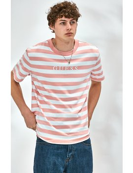 Guess Stream Stripe Pink T Shirt by Pacsun