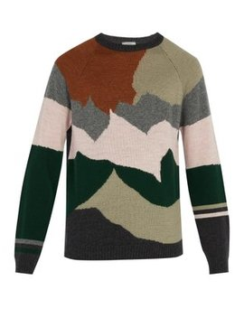 Intarsia Knit Wool And Cashmere Blend Sweater by Lanvin
