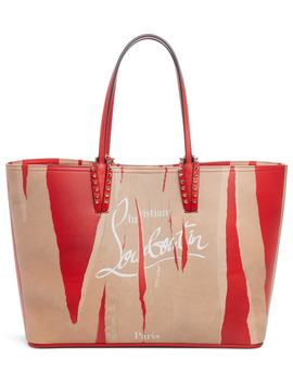 Christian Louboutian Cabata Loubi Kraft Leather Tote by Christian Louboutin