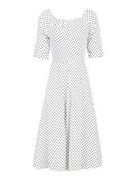 *Jolie Moi White Polka Dot Swing Dress by Dorothy Perkins