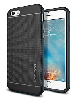 Spigen Neo Hybrid Case With Metallized Buttons For Apple I Phone 6/6 S   Metal Slate by Amazon