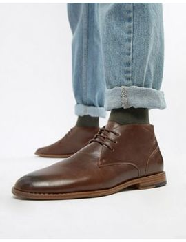 New Look Faux Leather Chukka Boot In Brown by New Look
