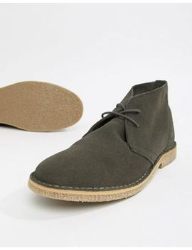 Asos Design Desert Boots In Grey Suede by Asos Design