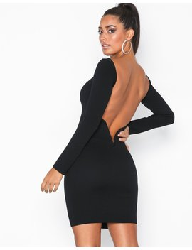 Low V Bar Back Dress by Nly One