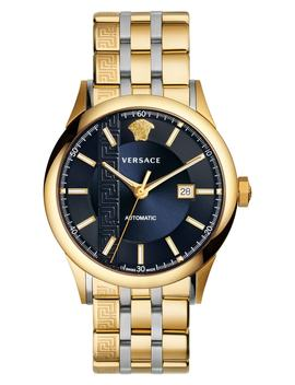 Aiakos Automatic Bracelet Watch, 44mm by Versace